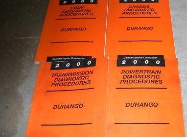 2000 Dodge Durango Service Repair Shop Manual Set Oem (chassis/body/powertrain/transmission/powertrain diagnostics procedures manuals.)