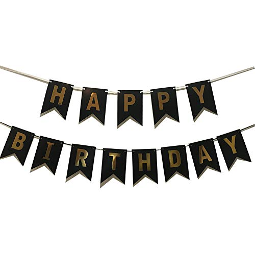 Yichen Xu Lovely Happy Birthday Wall Banner,Versatile, Beautiful, Swallowtail Bunting Flag Garland Surprise Ideas, Birthday Party Decorations and -