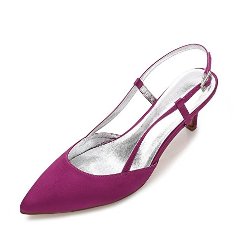Oficina Sandalias Las Mujeres Fall Noche Shoes Summer Libre Silk Wedding Fiesta y Stiletto amp; Carrera Al Vestido de L y Aire YC Purple Club de w4q77t
