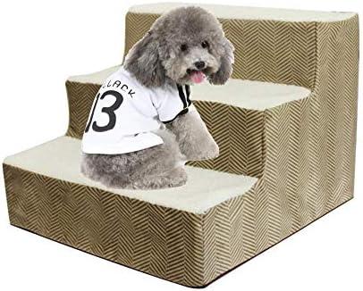 Kapokilly Pasos para Mascotas De 3 Capas, Escalera para Subir Perros Escaleras para Subir Mascotas Escaleras para Esponjas para Perros Suministros para Cama Gatos Y Perros Pasos Simples: Amazon.es: Productos para mascotas