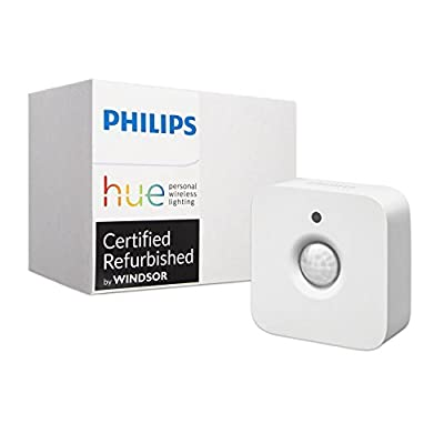 Philips Hue Motion Sensor for Smart Lights - Installation-Free, Smart Home, Exclusively for Philips Hue Smart Bulbs (Certified Refurbished)