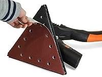 """Drywall Sander 80-Grit Hook & Loop 11-1/4"""" Triangle Sandpaper, 10 Pack"""