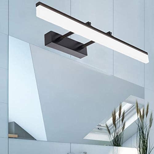 Aplique Espejo Baño LED Impermeable, XMYX Luz Espejo Baño, Lámpara de Espejo LED con Ajustable, Telescópico, Aluminio, Regulable Luz de 3-colores, para Apliques Baño, Armario, Pared, Negro,60cm12W: Amazon.es: Iluminación