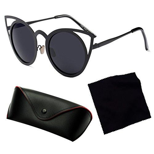Cat Vintage Mujeres Eye Juleya C1 Sunglasses Fashion UV400 Mujer Eyewear Cateye Espejo 5SBa8q6Hwa