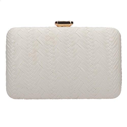 (Fawziya Weave Clutch Purses For Women Evening Bags And)