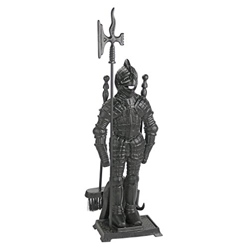 Design Toscano SP1035 The Black Knight Fireplace Tool Ensemble