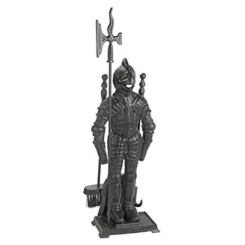 Design Toscano The Black Knight Fireplace Tool Ensemble