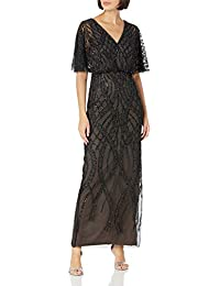 Women's Beaded Column Gown