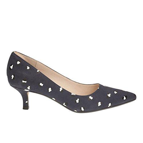 Clarks Trabajo Mujer Zapatos Aquifer Soda En Nobuk Azul Tamaño 40
