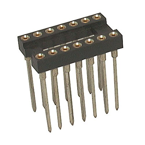 (Jameco Valuepro 6100-14W-R Socket IC 14 Pin Machine Tooled Wire Wrap, 0.3