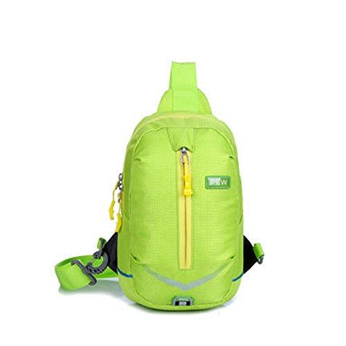 Color el para para AFCITY Pecho Bolsas Bandolera Bolsas Hombro Hombre Mujer Chica Verde Hondas para para Señora Mochilas Azul Excursionismo o Multiusos Adolescentes wEppx6Rq