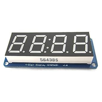 1,42 cm LED Digital Display de 4 dígitos punto de módulo con reloj Para Arduino UNIO,, Leonardo: Amazon.es: Amazon.es