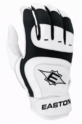 Easton Sv12 Pro Youth Batting Gloves, White/Black, Large