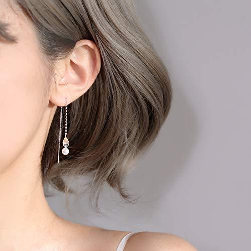 - Literary Leaves Mother Pearl Shell Earrings earings Dangler Eardrop s925 Sterling Silver Ear Wire Creative Department Forestry Women Girls Models