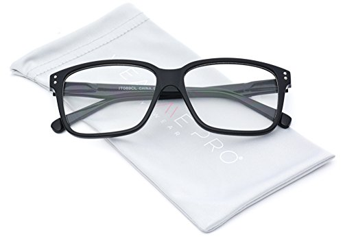 WearMe Pro - Square Modern Frame Clear Lens Glasses - Non - Non Glasses Black Prescription