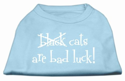 UPC 099994365615, Mirage Pet Products Black Cats Are Bad Luck Screen Print Shirt, 3X-Large, Baby Blue