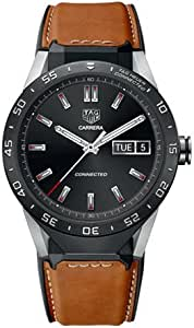 TAG Heuer CONNECTED Luxury Smart Watch (Compatible with Android/iPhone) (Brown Leather)