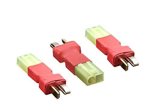 3 Pcs Male T-plug Deans to Female Mini Tamiya Connector Adapter