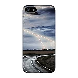 New Fashion Premium Cases Covers For Iphone 5/5s - Lightning In The Sky