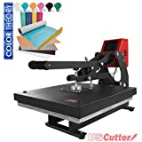 "15"" x 15"" Auto-Opening Clamshell Heat Press + Color Theory Glitter Heat Transfer Vinyl Kit"