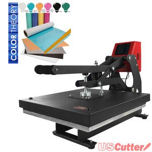15'' x 15'' Auto-Opening Clamshell Heat Press + Color Theory Glitter Heat Transfer Vinyl Kit by Greenstar