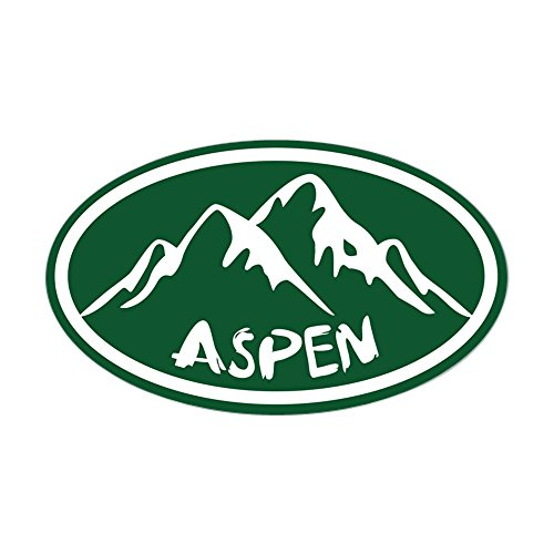 CafePress Aspen Hand Drawn Oval Bumper Sticker, Euro Oval Car Decal
