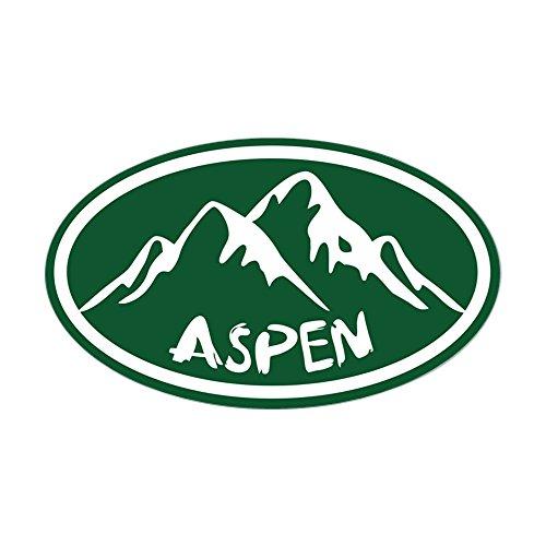 CafePress Aspen Hand Drawn Oval Bumper Sticker, Euro Oval Car Decal (Snowmass Village Aspen)