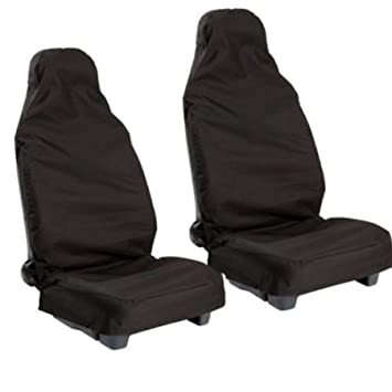 FIAT STILO HEAVY DUTY BLACK FULL SET WATERPROOF SEAT COVERS 02 +