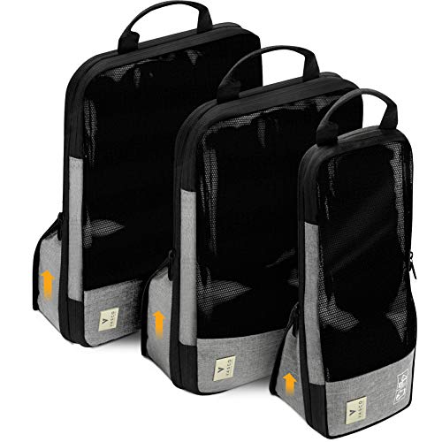 VASCO Compression Packing Cubes for Travel – Set of 3 Slim Packing Cubes by Vasco (Image #10)