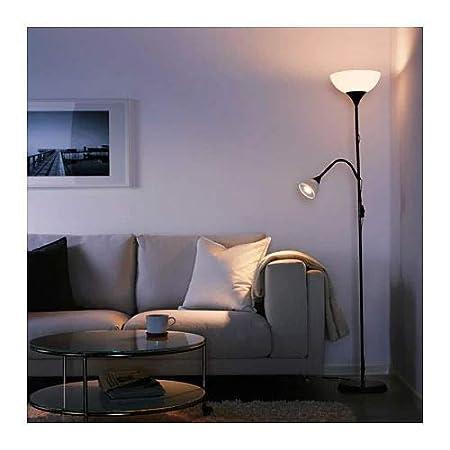 Floor uplighter//Reading lamp White Black 2 X IKEA NOT