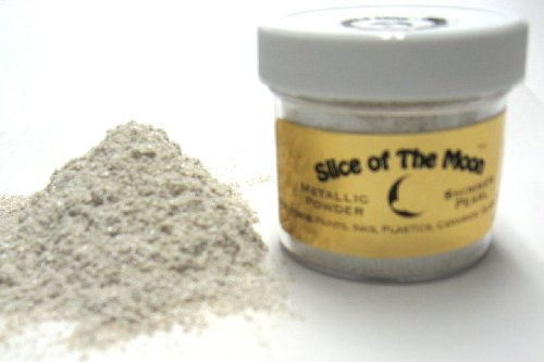 Shimmer Pearl Mica Powder 1oz, High Shimmer Effect, Cosmetic Mica, Slice of the Moon