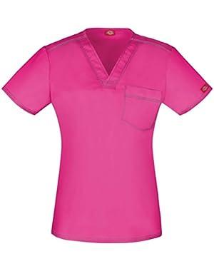 Unisex Fit V-Neck Pocket T-shirt,DK801