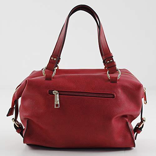 Roma Colgar Eferri X Shopper L w Bolso Para rojo Cm Mujer De 10x21x30 H Rojo tqwCERxw