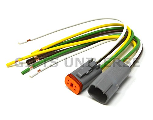Deutsch DT 4-pin Pigtail Kit 14AWG Pure Copper GPT Wire, Made in USA