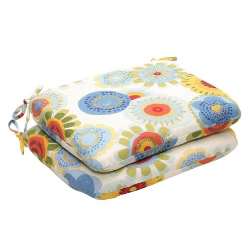 Pillow Perfect Indoor/Outdoor Multicolored Floral Round Seat Cushion, 2-Pack Review