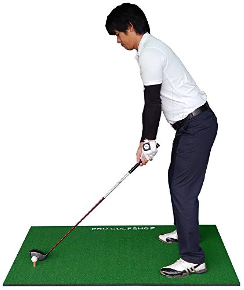 [해외] [골프 스윙 연습 매트]BIG드라이어이빙 매트100CM×150CM &고무 티 부착