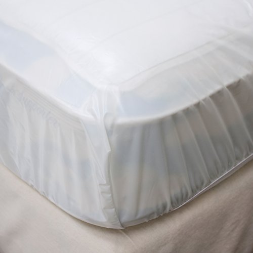 LeakMaster - Fitted Waterproof Mattress Cover - Protect Your Bed From Spills, Accidents and Damage - Stain Repellant, Comfortable and Quiet Premium Waterproof Mattress Cover (Queen)