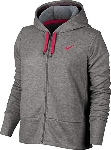 (Nike Women's Dry Training Hoodie (XS, Silver))