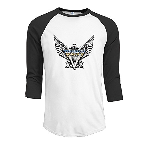 Triumph Canadian Hard Rock Power Band Mens 3/4 Sleeve Raglan Tops Shirt Printed T-shirt Men