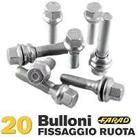 10 Bulloni Ruota Viti Bulloni Della Ruota m12 x 1.5 x 31 SFERA SFERA federale r12 sw17