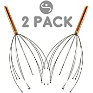 Scalp Massager by Body Back Company – Handheld Head Massage Tingler, Scratcher & Stress Reliever Tool Set for Hair Stimulation & Relaxation (2-Pack)