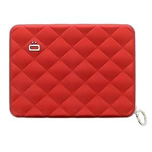 Ogon Passport Cover | Passport Holder | Passport Wallet | RFID Blocking | Passport Case | Credit Card Organizer for Women (Red)