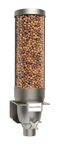 Rosseto EZ538 EZ-SERV Single Container Wall-Mount Dry Goods Dispenser, 2-Gallon Capacity, 8-1/2'' Length x 9'' Width x 24'' Height