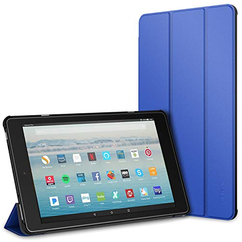 JETech Case for Amazon Fire HD 10 Tablet 10.1 (7th Generation, 2017 Release Only) Smart Cover with Auto Sleep/Wake (Blue)