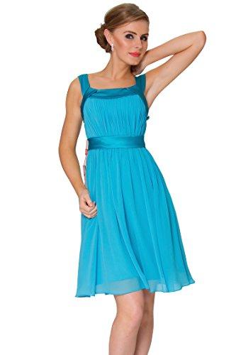 honor 1676 de SkyBlue c¨®ctel de collar COJ SEXYHER Plaza vestido longitud de de 3SC damas la de rodilla q1gUxOSw