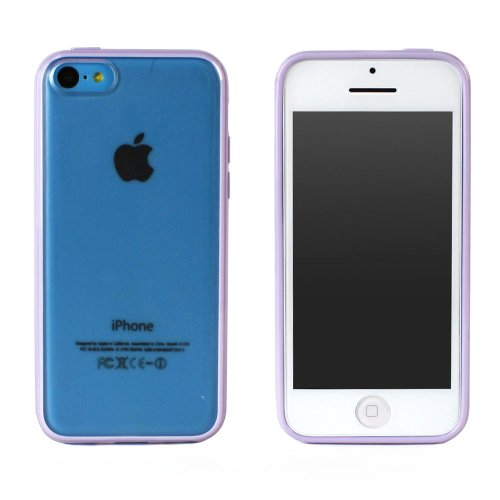 JAVOedge Duo Color Back Cover with TPU Bumper for the iPhone 5C (Purple)