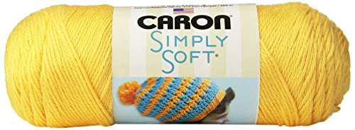 Caron H970039755 Simply Soft Solids Yarn (4) Medium Gauge 100% Acrylic - - Sunshine - Machine Wash & Dry
