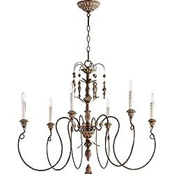 Quorum Lighting 6006-6-39, Salento 1 Tier Chandelier Lighting, 6LT, 120 Watts, Vintage Copper