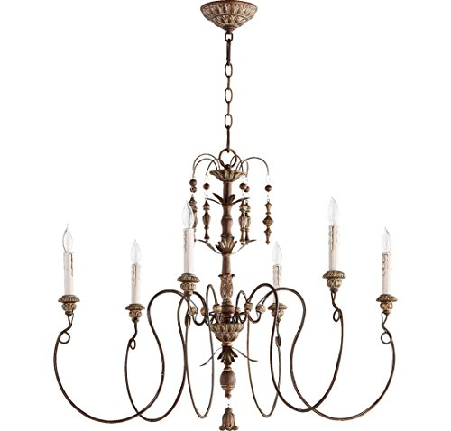 Quorum Lighting 6006-6-39, Salento 1 Tier Chandelier Lighting, 6LT, 120 Watts, Vintage Copper by Quorum Lighting