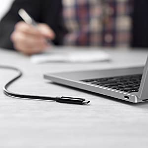 Belkin Thunderbolt 3 Usb Type-C Cable - Featuring Usb-C To Usb-C End Connections On 3 Foot/1 Meter Long Thunderbolt 3 Cable - 20 Gbps Data Transfer Speed - Usb 3.1 Compatible 10GB/s (F2CD081bt1M-BLK)